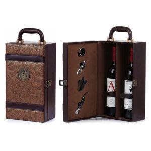 ワインボトルを収納する高級革箱の制作事例